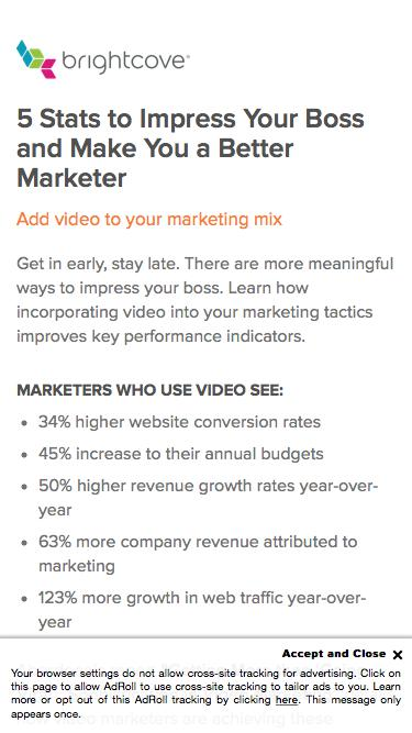Brightcove |  5 Stats to Impress Your Boss and Make You a Better Marketer