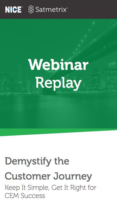 Satmetrix Webinar Replay: Customer Journey