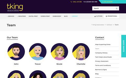 Screenshot of Team Page tkingassociates.com - Team - T King Associates - captured Oct. 19, 2018
