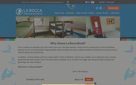 Screenshot of Pricing Page hostelinportodegalinhas.com - Pricing | Hostel Porto de Galinhas - captured Jan. 25, 2016