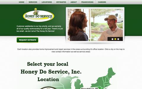 Screenshot of Locations Page honeydoservice.net - Handyman Locations for Home Improvement & Repair | Honey Do Service - captured Jan. 22, 2016