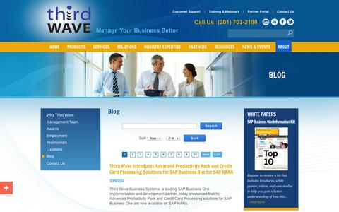 Screenshot of Blog twbs.com - Third Wave Business Systems' blog - captured Oct. 10, 2014