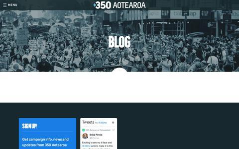 Screenshot of Blog 350.org.nz - 350 AOTEAROA  – Blog - captured Oct. 20, 2018