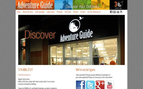 Screenshot of Contact Page advguide.com - Contact - Adventure GuideAdventure Guide - captured Sept. 19, 2014