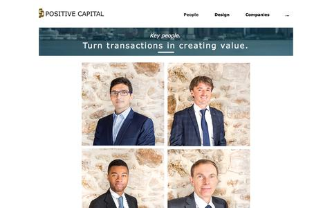 Screenshot of Team Page positive-capital.com - pocav2 | People - captured July 20, 2018