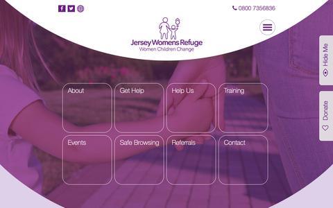 Screenshot of Home Page jerseywomensrefuge.org - Jersey Womens Refuge - captured Oct. 13, 2018