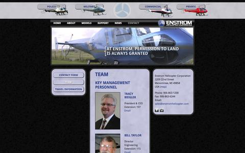 Screenshot of Team Page enstromhelicopter.com - Team «  Enstrom Helicopter Corporation - captured Oct. 2, 2014