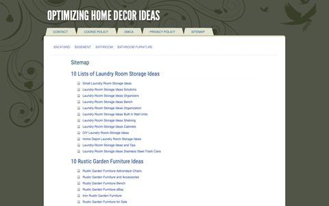 Screenshot of Site Map Page welcometofleet.com - Sitemap — Optimizing Home Decor Ideas - captured Oct. 18, 2018