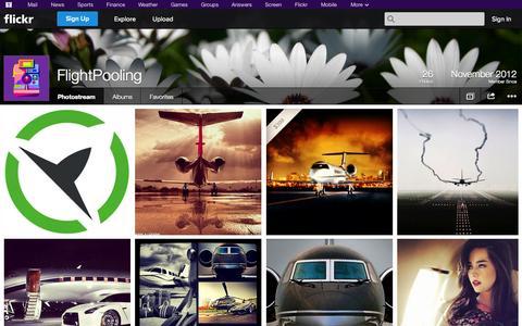 Screenshot of Flickr Page flickr.com - Flickr: FlightPooling's Photostream - captured Oct. 25, 2014