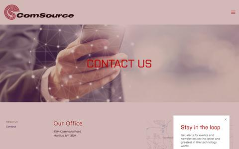 Screenshot of Contact Page comsourceny.com - Contact — ComSource - captured Sept. 29, 2018
