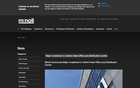Screenshot of Press Page minoli.co.uk - News | Minoli - captured Feb. 23, 2016
