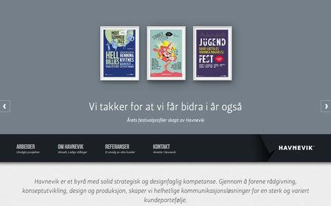 Screenshot of Home Page havnevik.no - Havnevik AS - Havnevik AS - captured Oct. 2, 2014