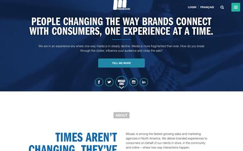 Mosaic - Consumer Centric Field Marketing, Merchandising and Sales