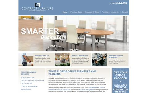 Screenshot of Home Page contractfurniturefl.com - Tampa Florida Office Furniture | Contract Furniture - captured Oct. 3, 2014