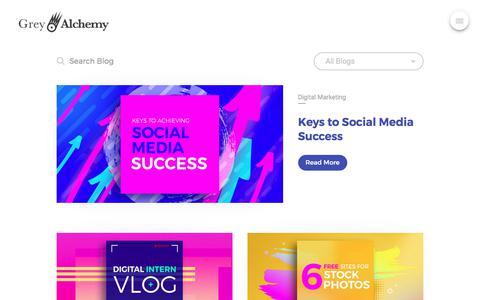 Screenshot of Blog greyalchemy.com - Blog - Grey Alchemy   Digital Marketing Agency Bangkok - captured July 23, 2018