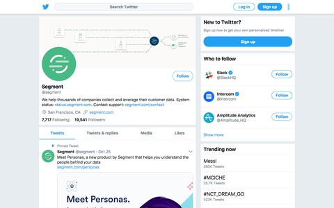 Tweets by Segment (@segment) – Twitter