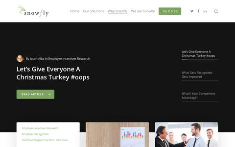 Screenshot of Blog snowfly.com - Blog – Employee Engagement and Employee Incentives - captured Aug. 18, 2019