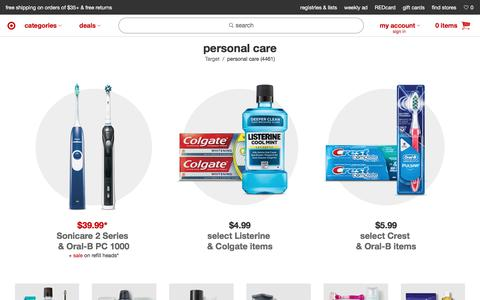Personal Care : Target