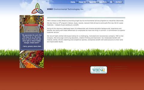 Screenshot of Jobs Page hwienvironmental.com - Careers | HWI Environmental Technologies, Inc. - captured Oct. 1, 2014