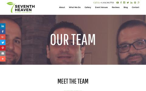 Screenshot of Team Page seventhheaven.ca - Our Team - captured Nov. 18, 2018