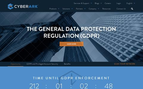 The General Data Protection Regulation (GDPR) - CyberArk