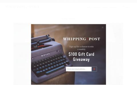 Screenshot of About Page whippingpost.com - About W+P - Whipping Post - captured Oct. 27, 2016