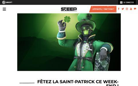 Screenshot of Press Page ubisoft.com - Fêtez la Saint-Patrick ce week-end! | Actualités | Steep sur PS4, Xbox One & PC | Ubisoft (CA) - captured Nov. 8, 2019