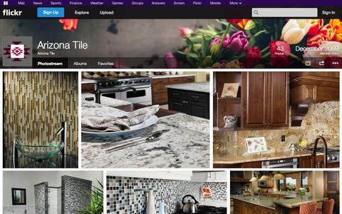 Screenshot of Flickr Page flickr.com - Flickr: Arizona Tile's Photostream - captured Oct. 23, 2014