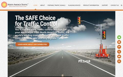 Screenshot of Home Page northamericatraffic.com - North America Traffic - captured Aug. 12, 2015