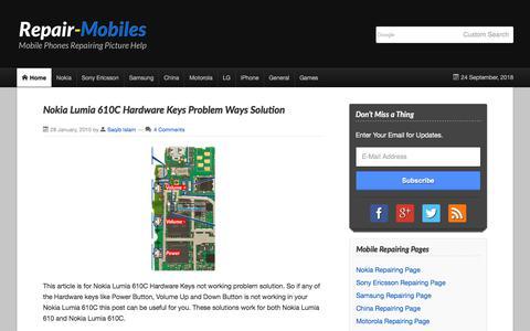Screenshot of Home Page repair-mobiles.com - Mobile Phones Repairing Picture Help - captured Sept. 23, 2018