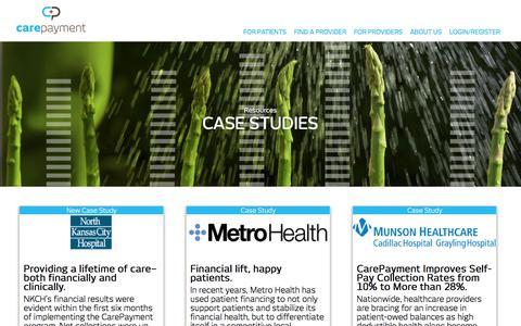Screenshot of Case Studies Page carepayment.com - Case Studies From Healthcare Providers   CarePayment - captured Oct. 24, 2017