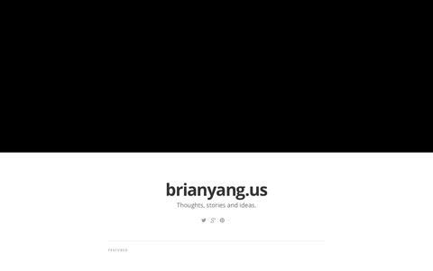Screenshot of Home Page brianyang.us - brianyang.us - captured Oct. 5, 2014