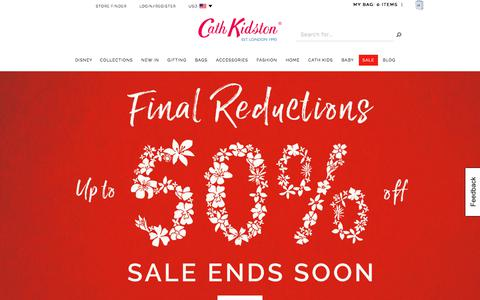 Screenshot of Home Page cathkidston.com - Cath Kidston | Women & Kids Fashion, Bags, Home and Gifts | CathKidston - captured July 17, 2017