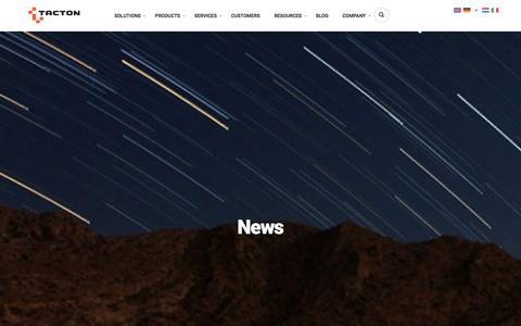 Screenshot of Press Page tacton.com - News post Archive   Tacton - captured Jan. 24, 2016