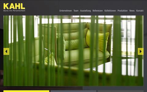 Screenshot of Home Page kahl.de - KAHL Büroeinrichtungen GmbH - Der Büroeinrichter und Objektausstatter in Mannheim und für die Metropolregion Rhein-Neckar - Home - captured Oct. 1, 2014