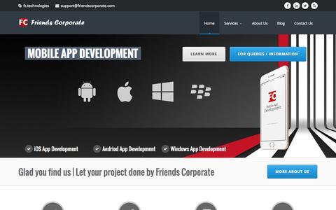 Screenshot of Home Page friendscorporate.com - Home | Friends Corporate - captured Sept. 30, 2014