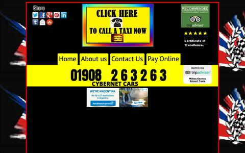 Screenshot of Home Page buckinghamtaxi.co.uk - HOME OF BUCKINGHAM TAXI'S SERVICE   CALL 01908 263263   AIRPORT CAB'S - captured Nov. 20, 2018