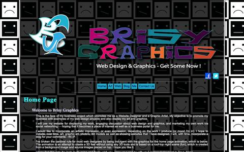 Screenshot of Home Page brisygraphics.ie - Brisy Graphics Introduction, Web Designer, Graphic Artist, Mallow, County Cork - captured Sept. 30, 2014
