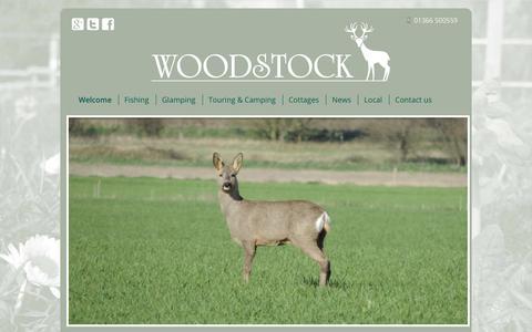 Screenshot of Home Page woodstockfarm.co.uk - A great rural Norfolk retreat - Woodstock Farm - A great rural Norfolk retreat - captured Sept. 23, 2018
