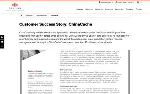 Screenshot of Case Studies Page equinix.com - ChinaCache Customer Success Story - captured Dec. 29, 2017
