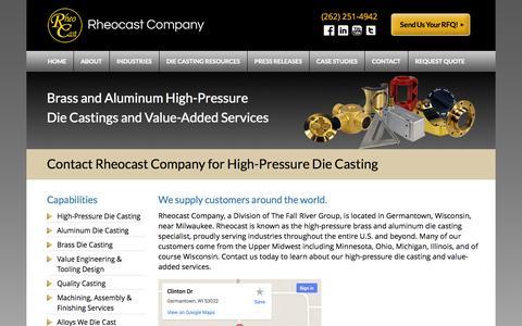 Screenshot of Maps & Directions Page rheocast.com - Contact Us - Rheocast Company - captured Sept. 30, 2014