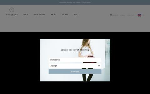 Screenshot of Press Page mudjeans.eu - Media - MUD Jeans - captured Dec. 4, 2016