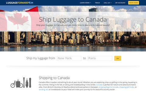 Ship Luggage to Canada | Shipping Luggage to Canada