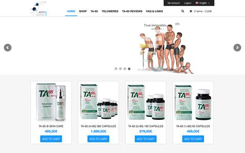 Screenshot of Home Page anti-aging-labs.com - TA-65 and other Anti-Aging Products at Anti-Aging Labs - captured July 25, 2016