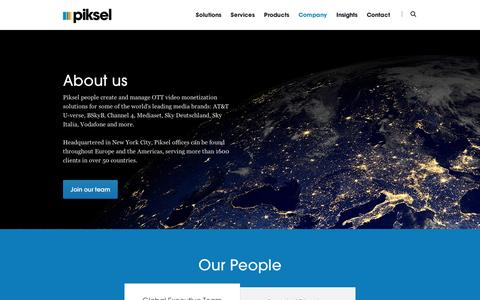 Screenshot of Team Page piksel.com - Company - Innovative Streaming Video Solutions - Piksel - Piksel - captured Sept. 11, 2014