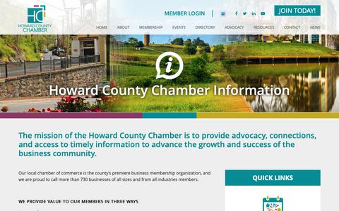Screenshot of About Page howardchamber.com - About Your Local Chamber of Commerce   Howard County Chamber - captured Sept. 30, 2018