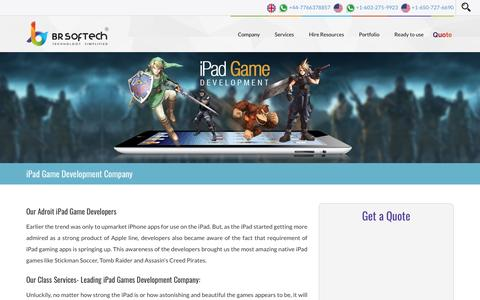 iPad Game Development Company India | Hire iPad Game Developers