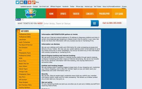 Screenshot of Privacy Page abctickets.com - Privacy Policy - captured Nov. 3, 2014