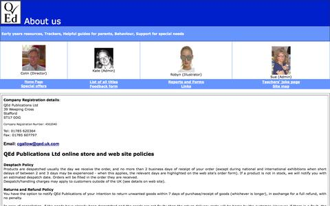 Screenshot of Privacy Page Contact Page qed.uk.com - QEd Publications contact details - captured Oct. 1, 2014