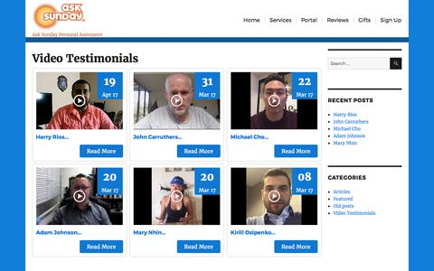 Screenshot of Blog asksunday.com - Ask Sunday – Ask Sunday Personal Assistance - captured May 30, 2017